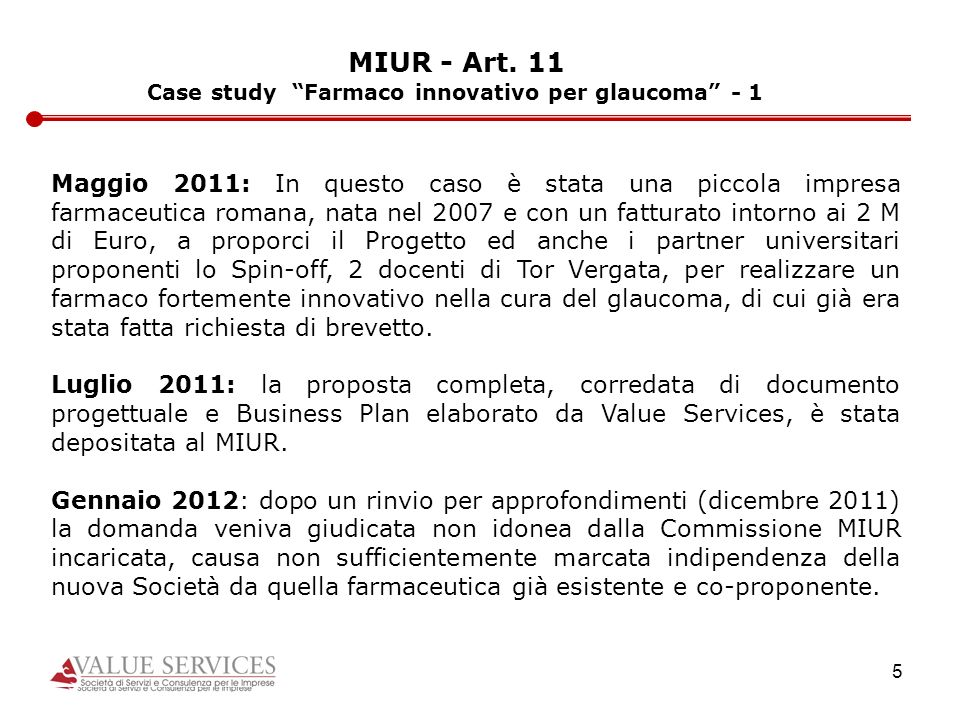 Case study Farmaco innovativo per glaucoma - 1