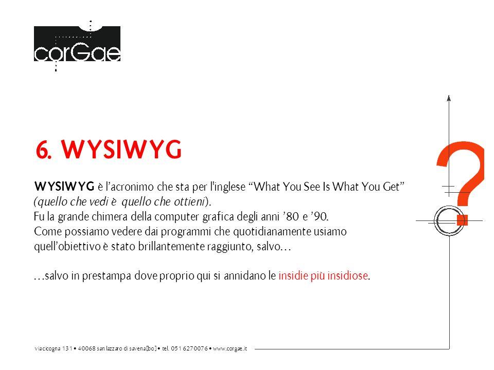 6. WYSIWYG WYSIWYG è l'acronimo che sta per l inglese What You See Is What You Get (quello che vedi è quello che ottieni).