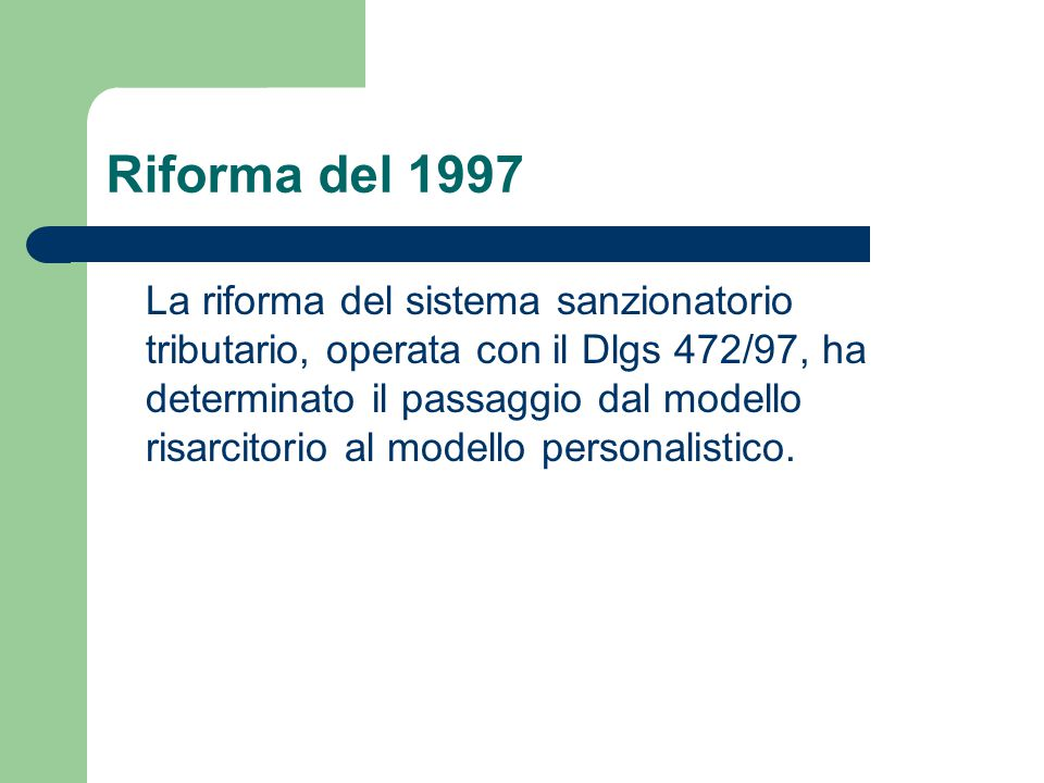 Riforma del 1997