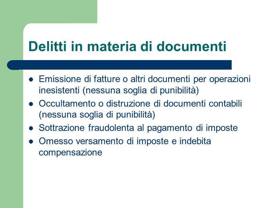Delitti in materia di documenti