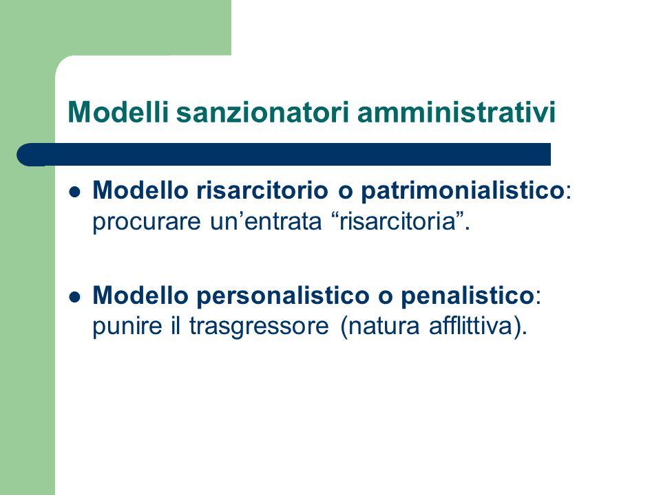 Modelli sanzionatori amministrativi