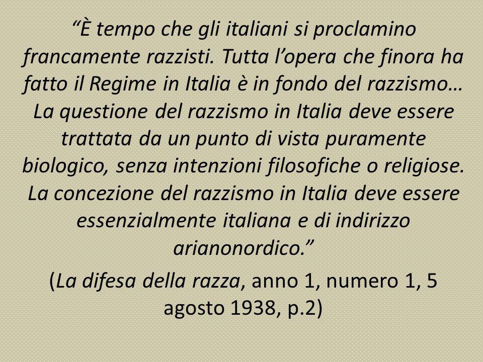 È tempo che gli italiani si proclamino francamente razzisti