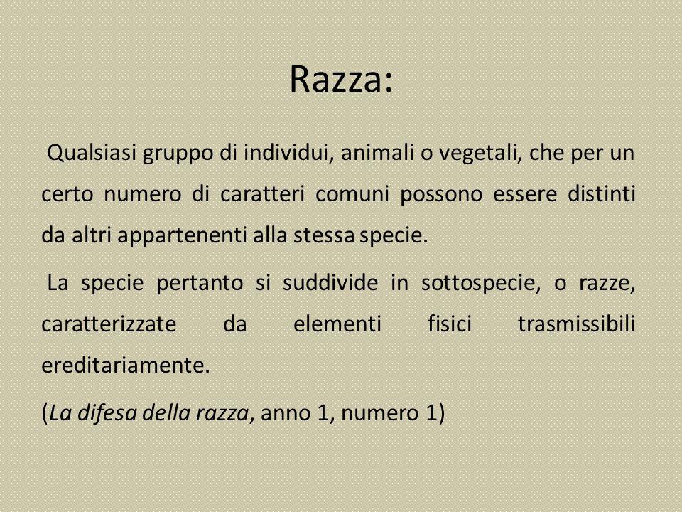 Razza:
