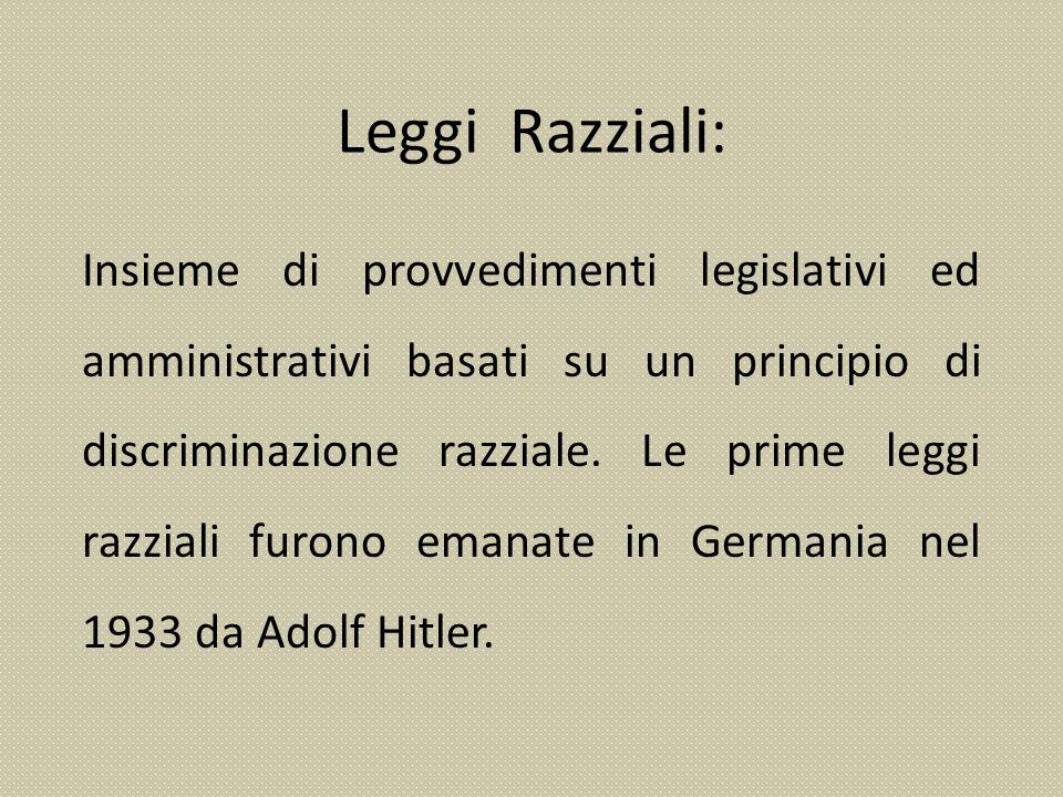 Leggi Razziali: