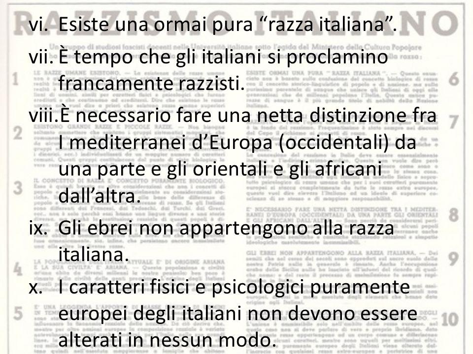 Esiste una ormai pura razza italiana .