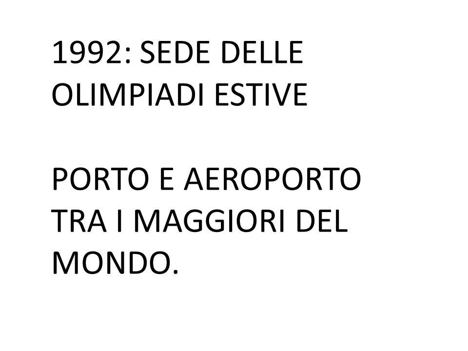 1992: SEDE DELLE OLIMPIADI ESTIVE