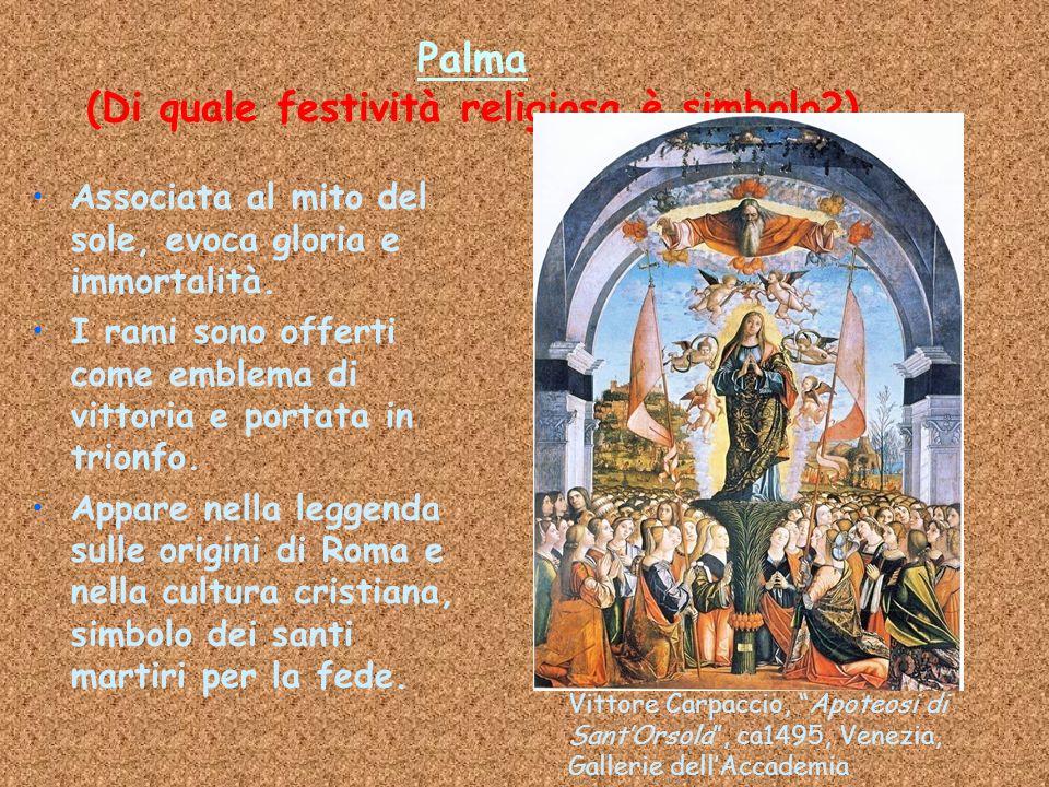 Palma (Di quale festività religiosa è simbolo )