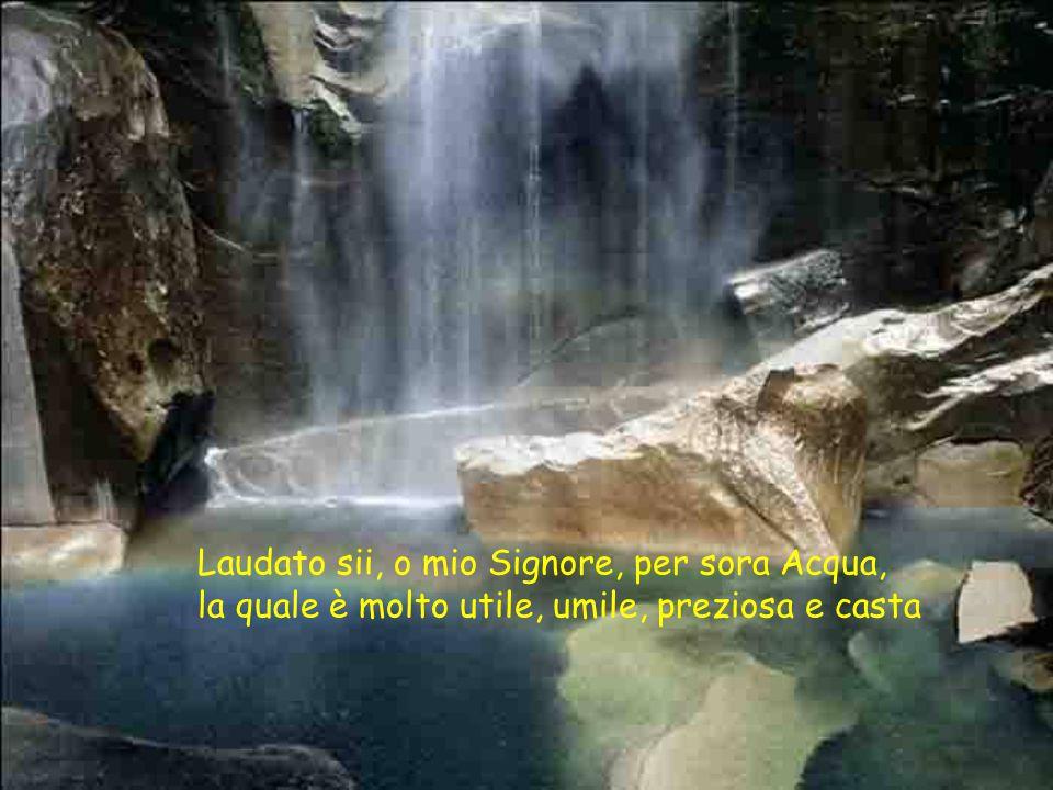 Laudato sii, o mio Signore, per sora Acqua, la quale è molto utile, umile, preziosa e casta