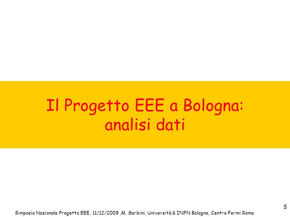 Il Progetto EEE a Bologna: analisi dati