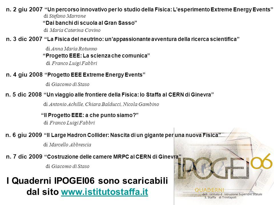 I Quaderni IPOGEI06 sono scaricabili dal sito www.istitutostaffa.it