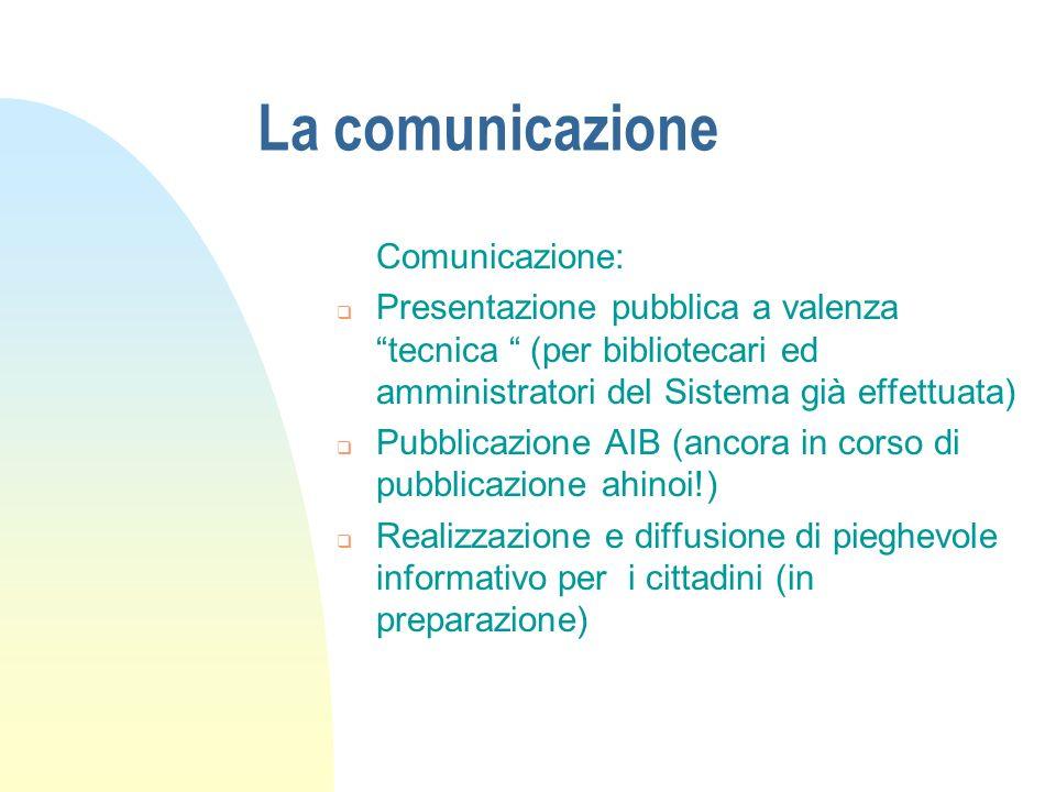 La comunicazione Comunicazione: