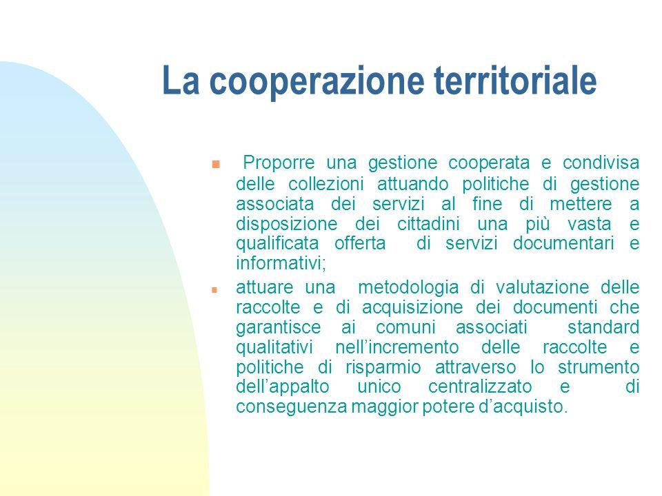 La cooperazione territoriale