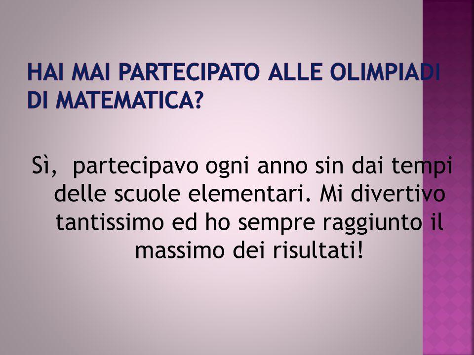 Hai mai partecipato alle Olimpiadi di matematica