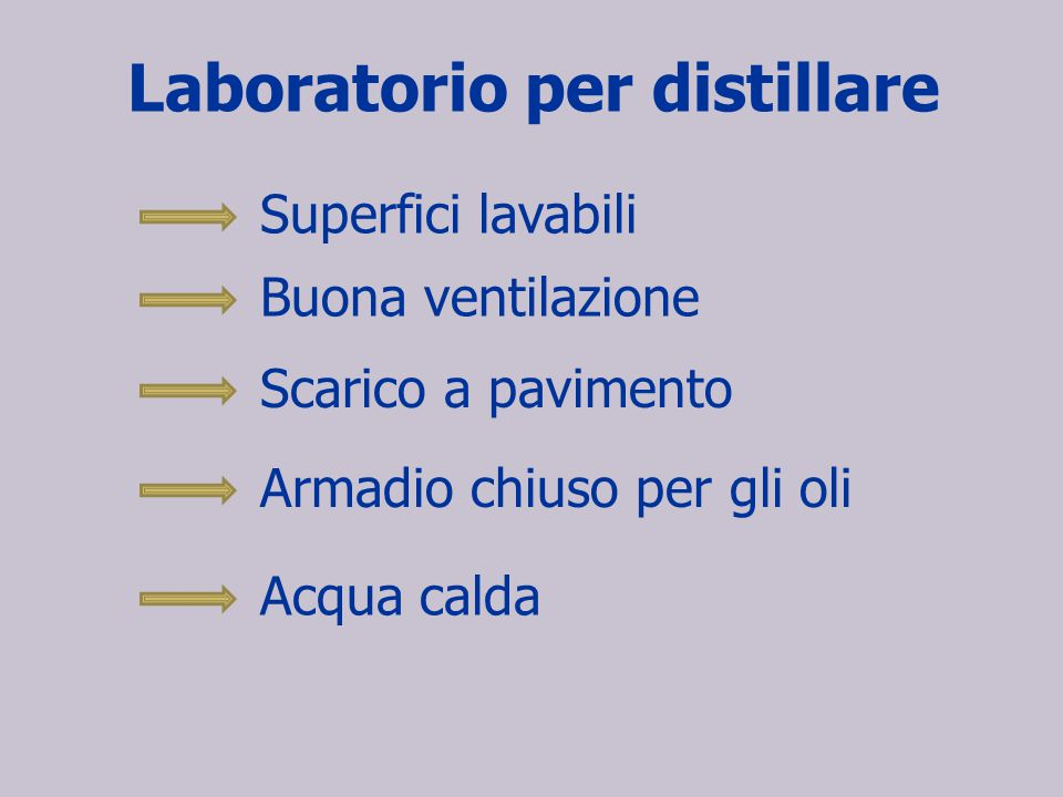 Laboratorio per distillare