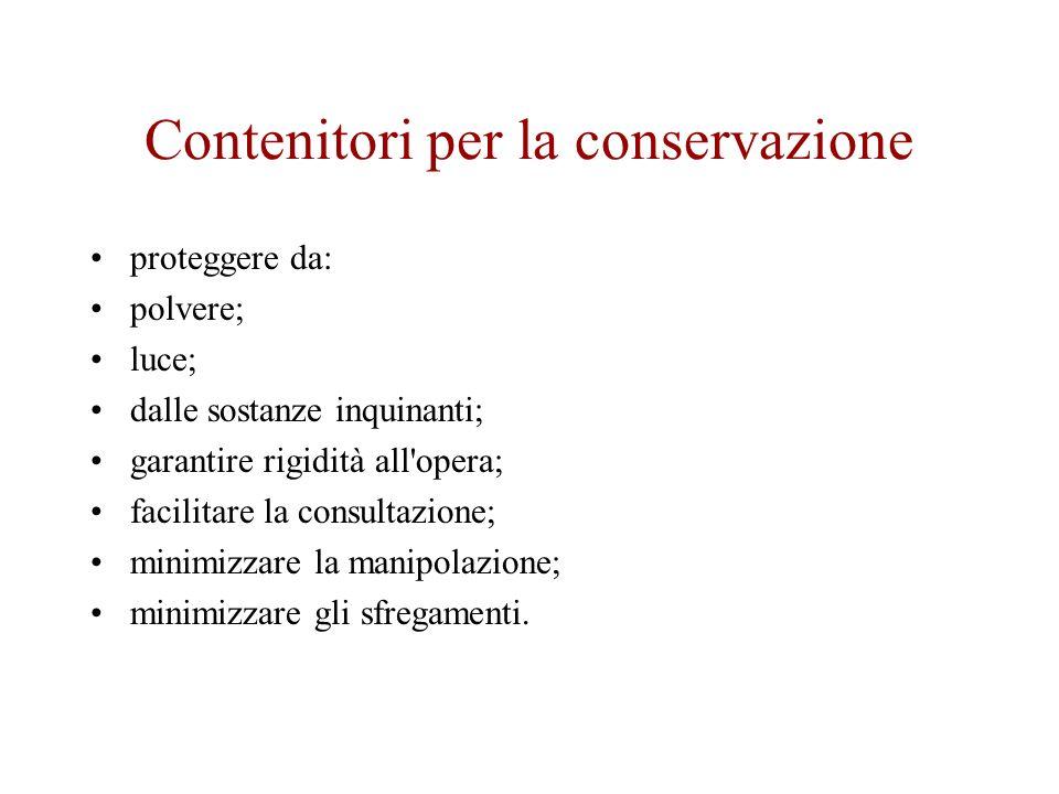 Contenitori per la conservazione