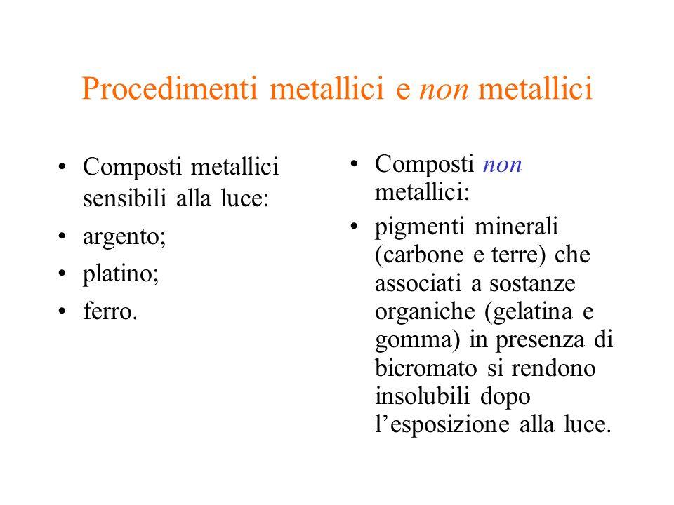 Procedimenti metallici e non metallici