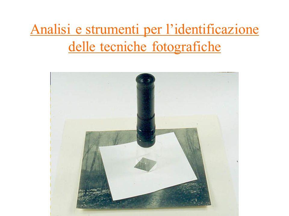 Analisi e strumenti per l'identificazione delle tecniche fotografiche