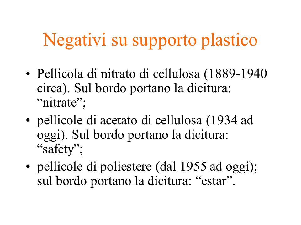 Negativi su supporto plastico