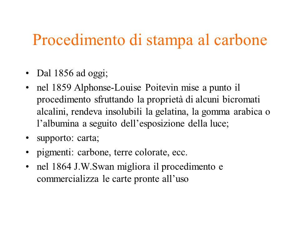 Procedimento di stampa al carbone
