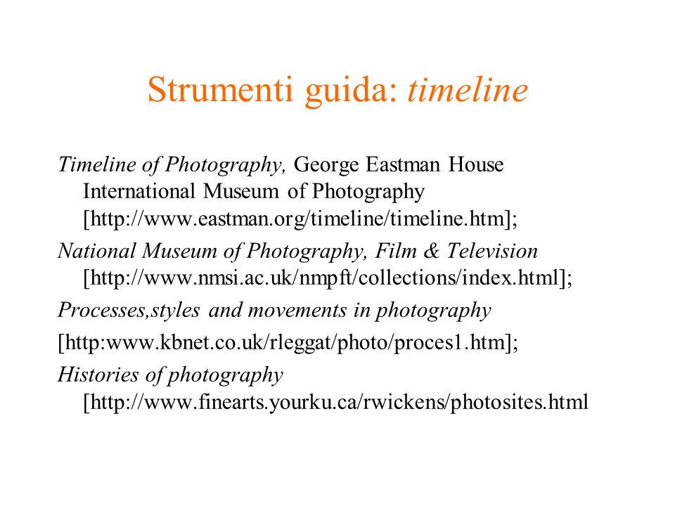 Strumenti guida: timeline
