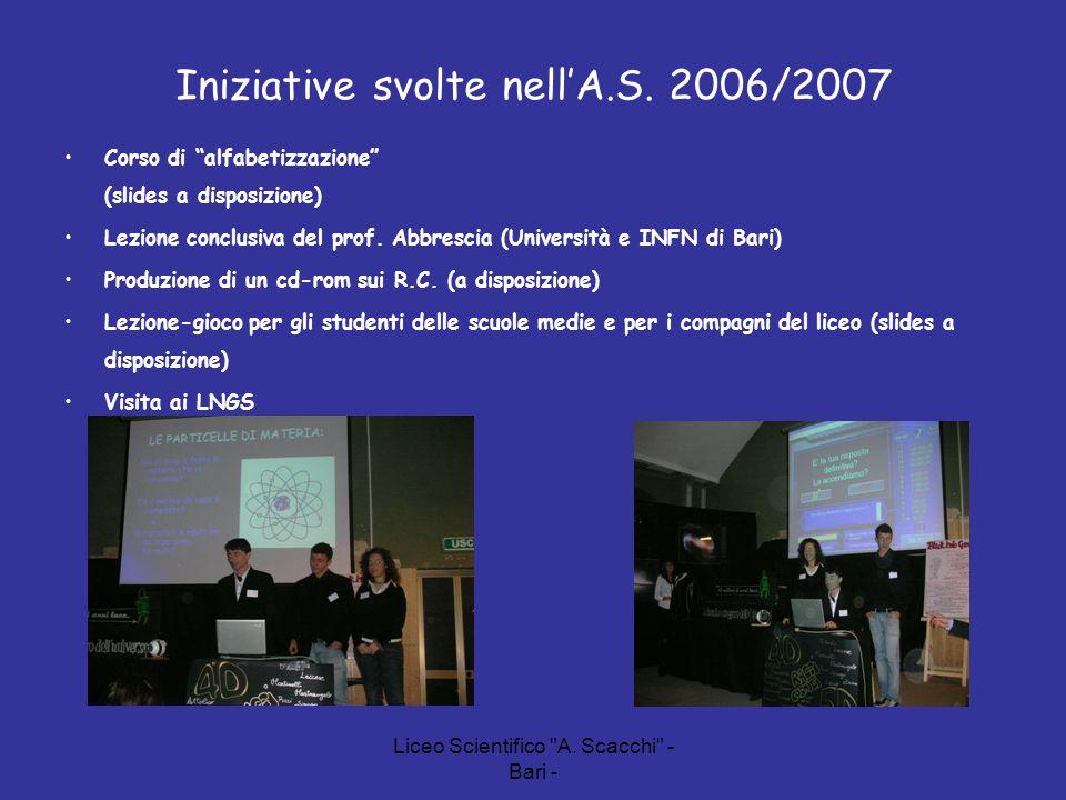 Iniziative svolte nell'A.S. 2006/2007
