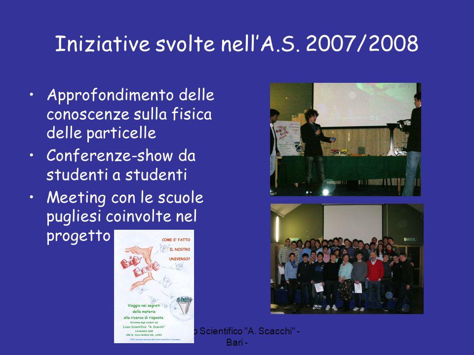 Iniziative svolte nell'A.S. 2007/2008