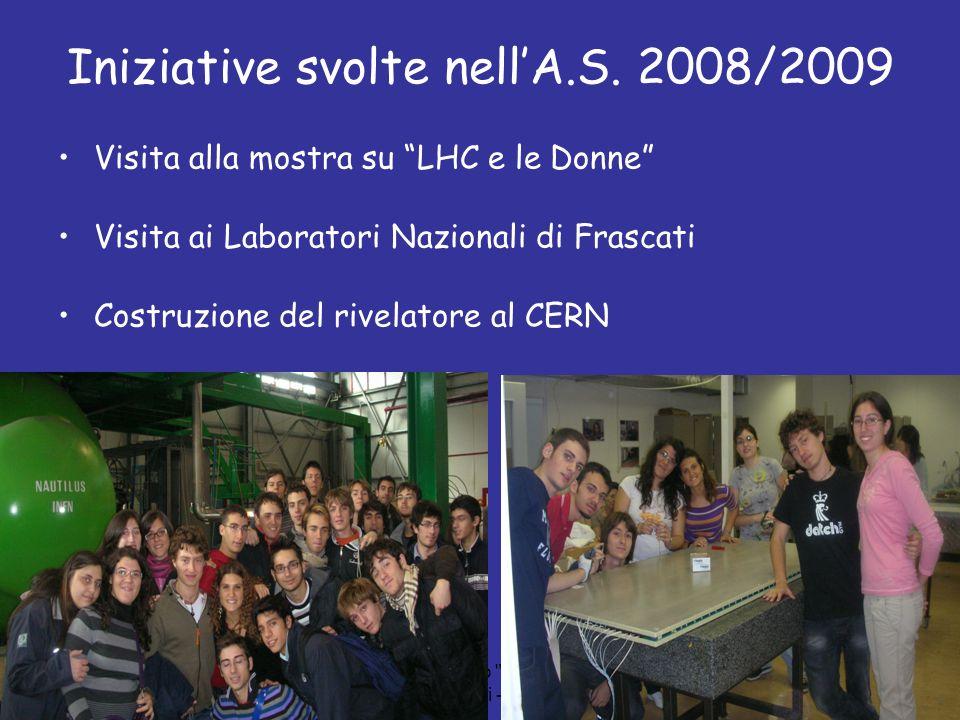 Iniziative svolte nell'A.S. 2008/2009