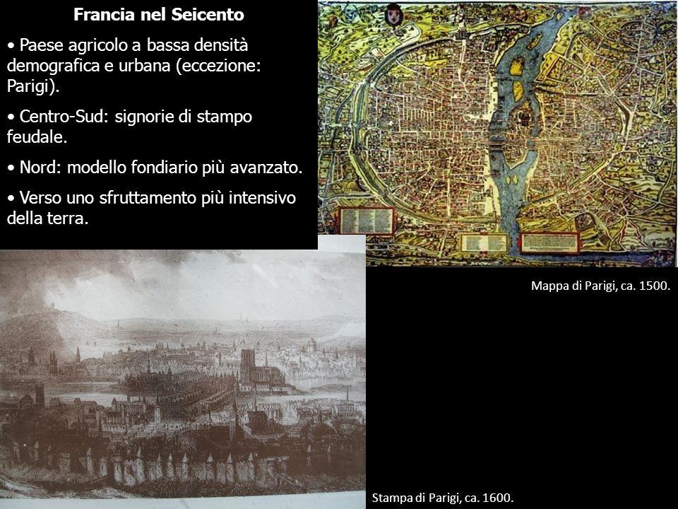 Centro-Sud: signorie di stampo feudale.