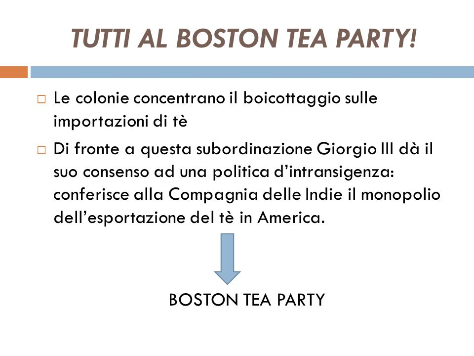 TUTTI AL BOSTON TEA PARTY!