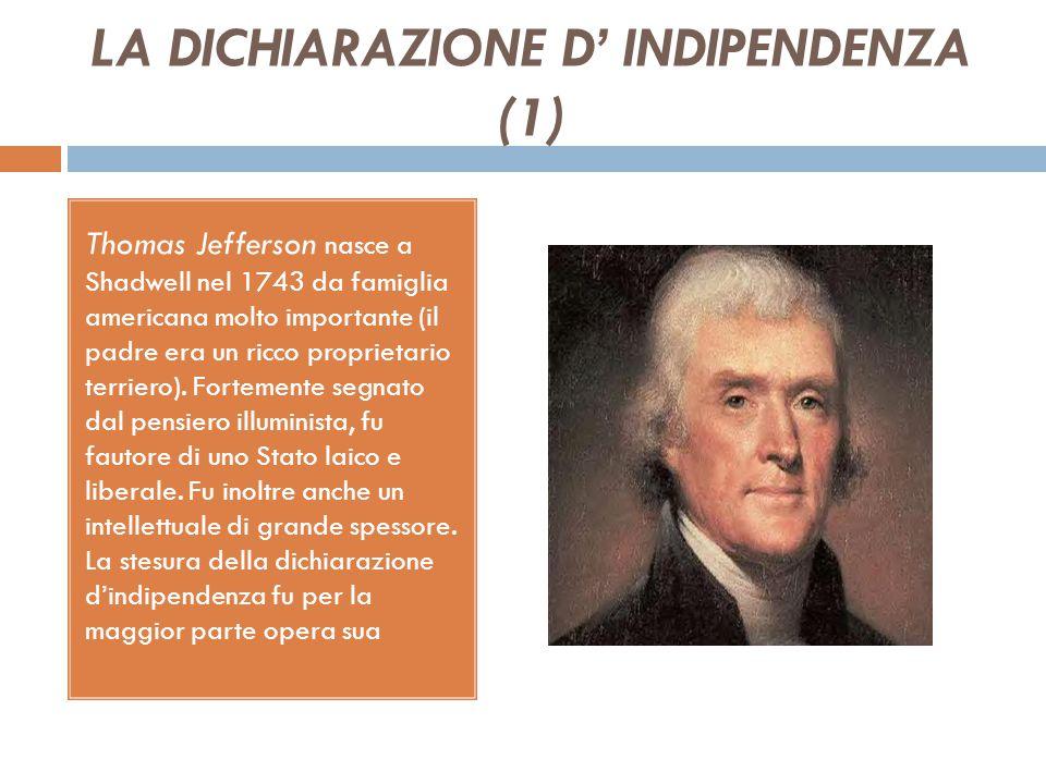 LA DICHIARAZIONE D' INDIPENDENZA (1)