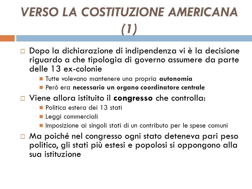 VERSO LA COSTITUZIONE AMERICANA (1)
