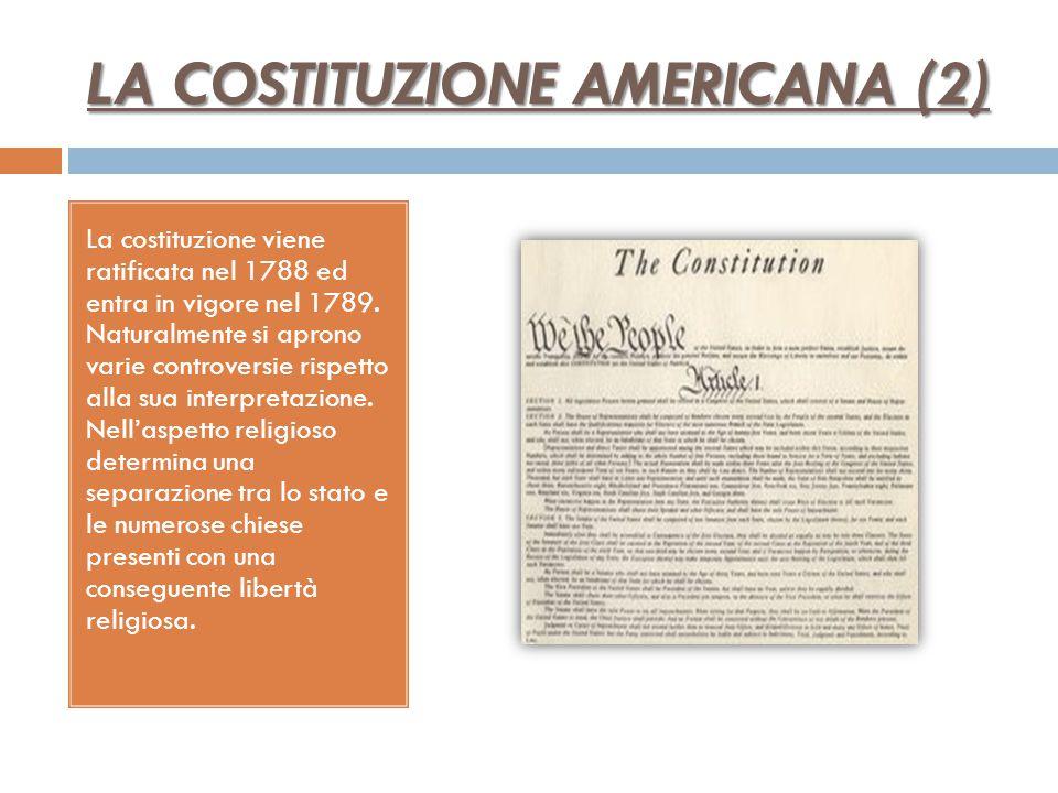 LA COSTITUZIONE AMERICANA (2)