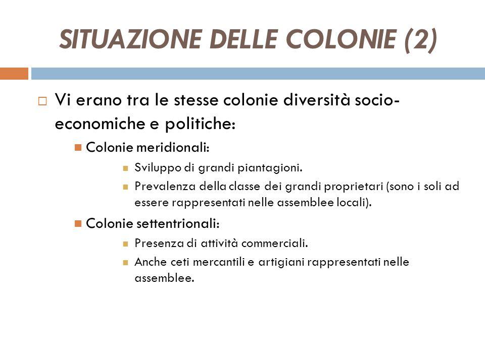 SITUAZIONE DELLE COLONIE (2)