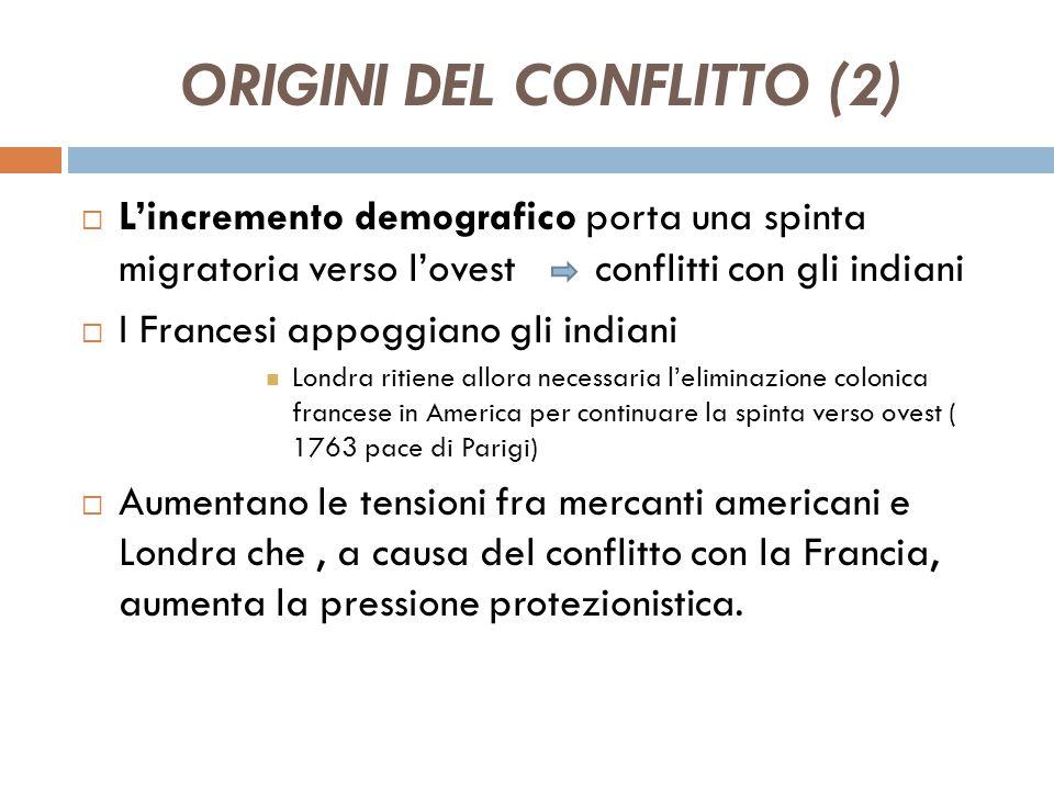 ORIGINI DEL CONFLITTO (2)