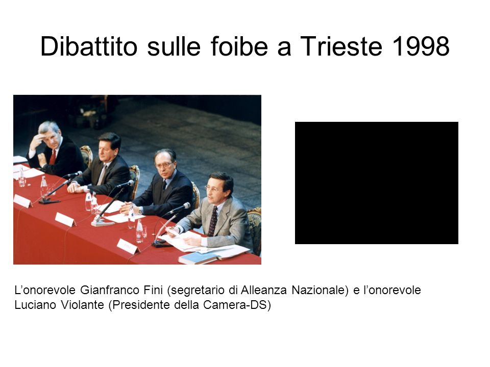 Dibattito sulle foibe a Trieste 1998