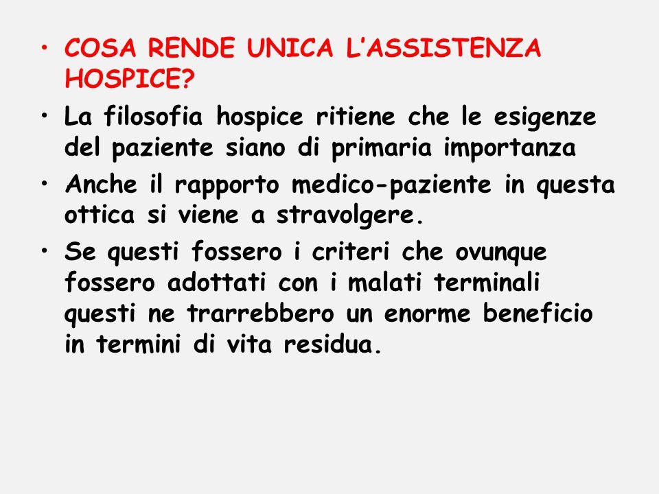 COSA RENDE UNICA L'ASSISTENZA HOSPICE