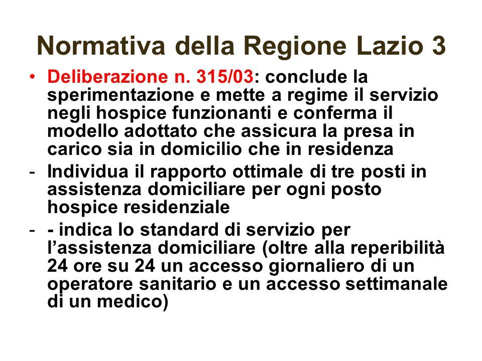 Normativa della Regione Lazio 3