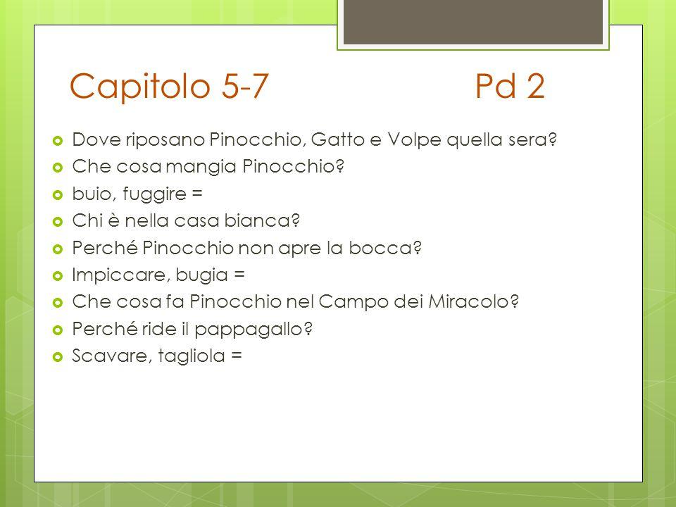 Capitolo 5-7 Pd 2 Dove riposano Pinocchio, Gatto e Volpe quella sera