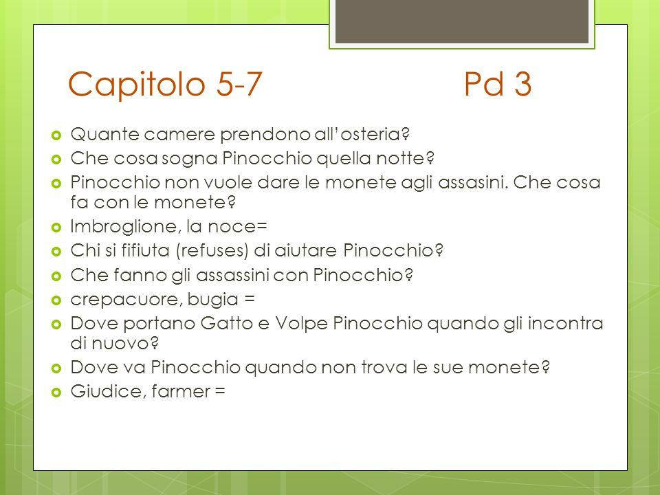 Capitolo 5-7 Pd 3 Quante camere prendono all'osteria