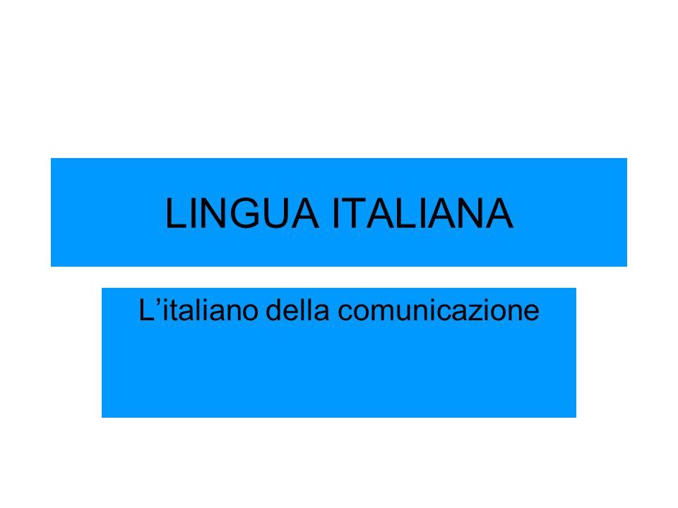 L'italiano della comunicazione