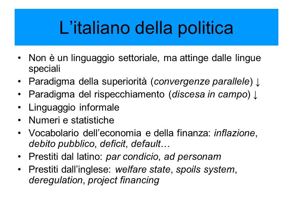 L'italiano della politica