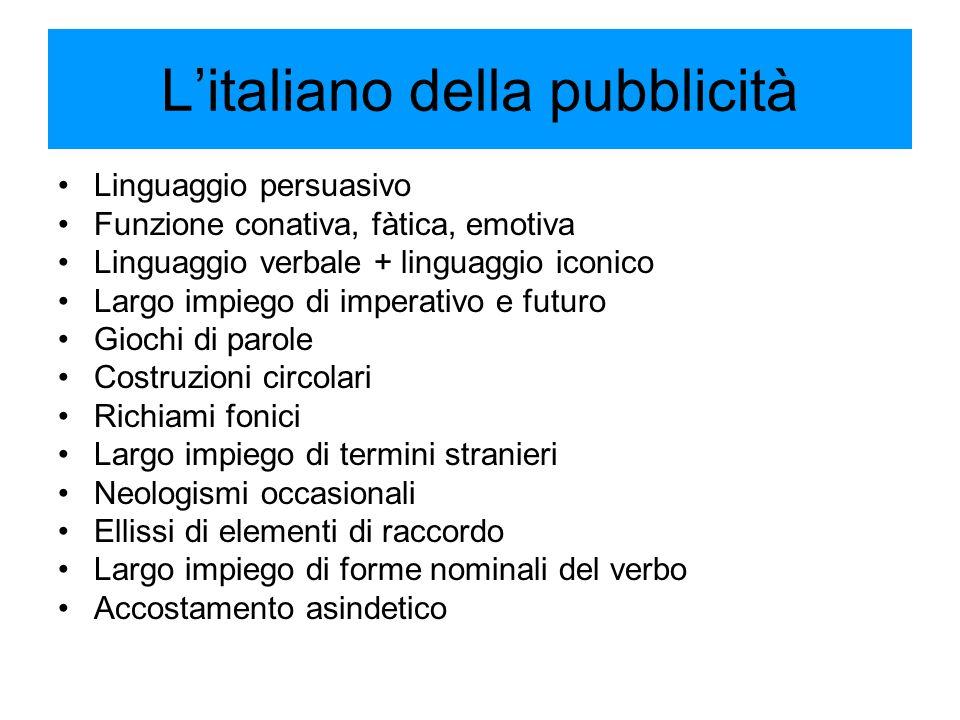 L'italiano della pubblicità