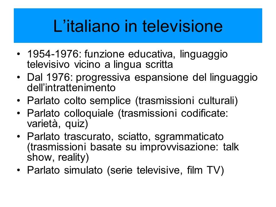 L'italiano in televisione