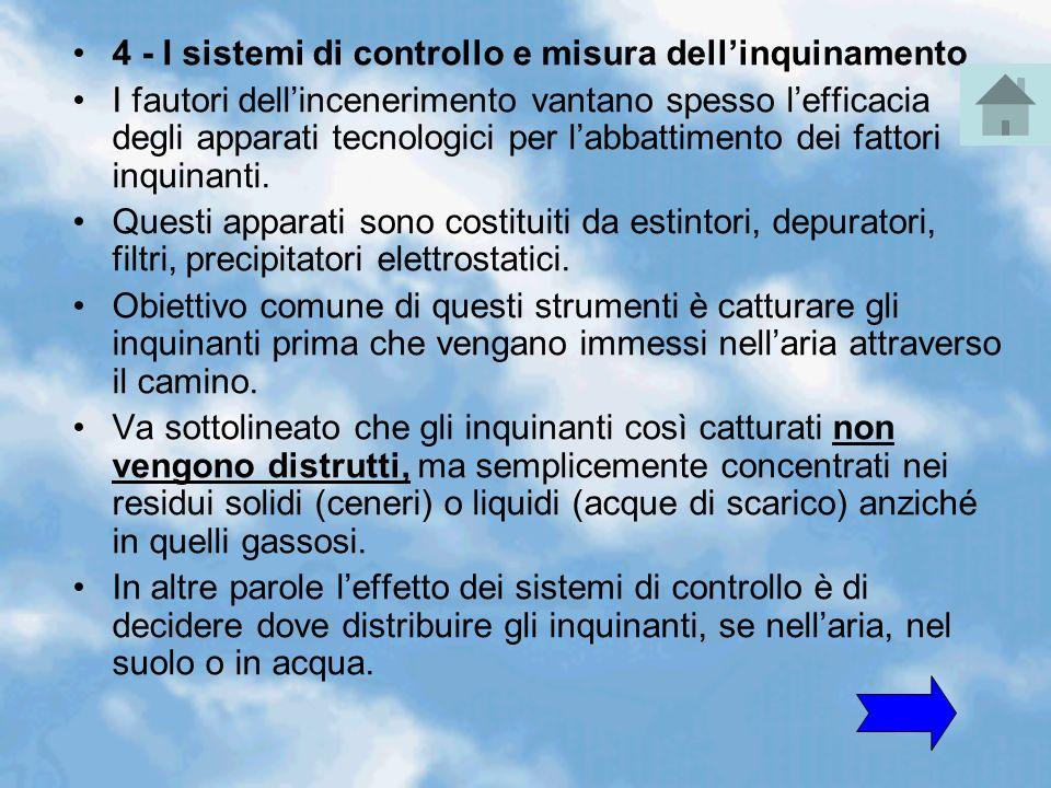 4 - I sistemi di controllo e misura dell'inquinamento