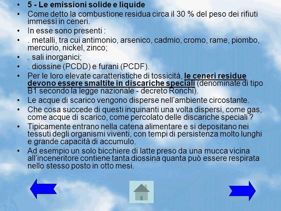 5 - Le emissioni solide e liquide