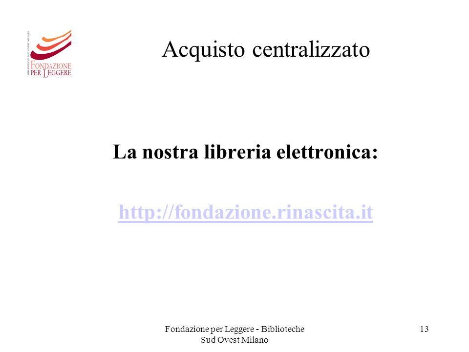Fondazione per leggere ppt scaricare for Acquisto libreria
