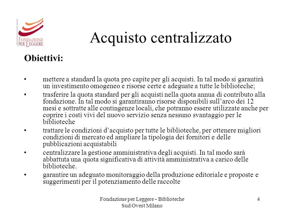 Acquisto centralizzato