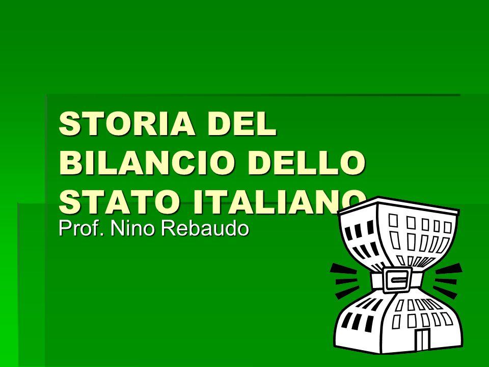 STORIA DEL BILANCIO DELLO STATO ITALIANO