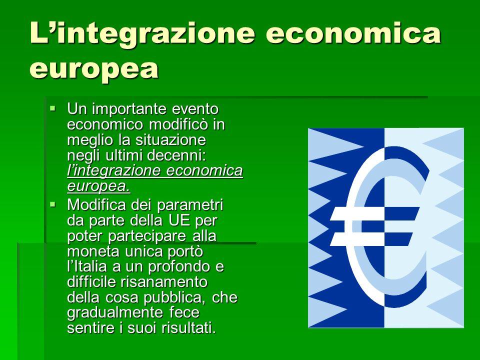 L'integrazione economica europea