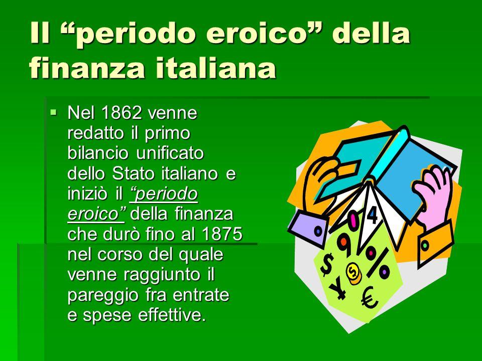 Il periodo eroico della finanza italiana